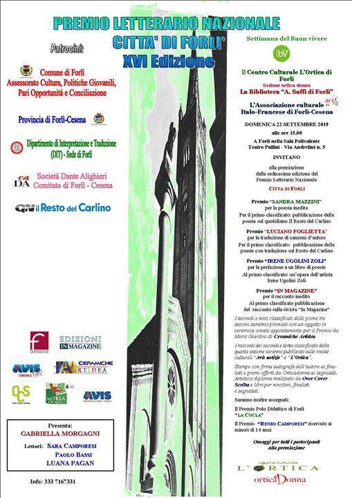 Premio Letterario Nazionale Città di forlì