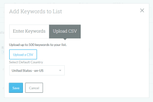 Add Keywords to List Functionality in Moz Keyword Explorer