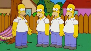Clones of Homer Simpsons