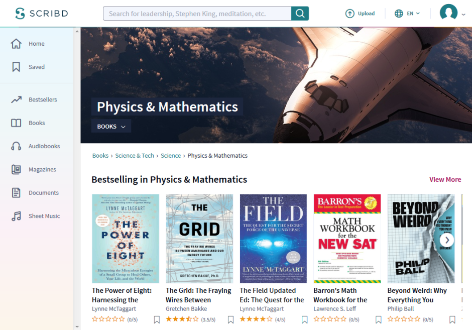 Scribd Physics & Mathematics Books Page