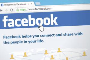 Facebook login page