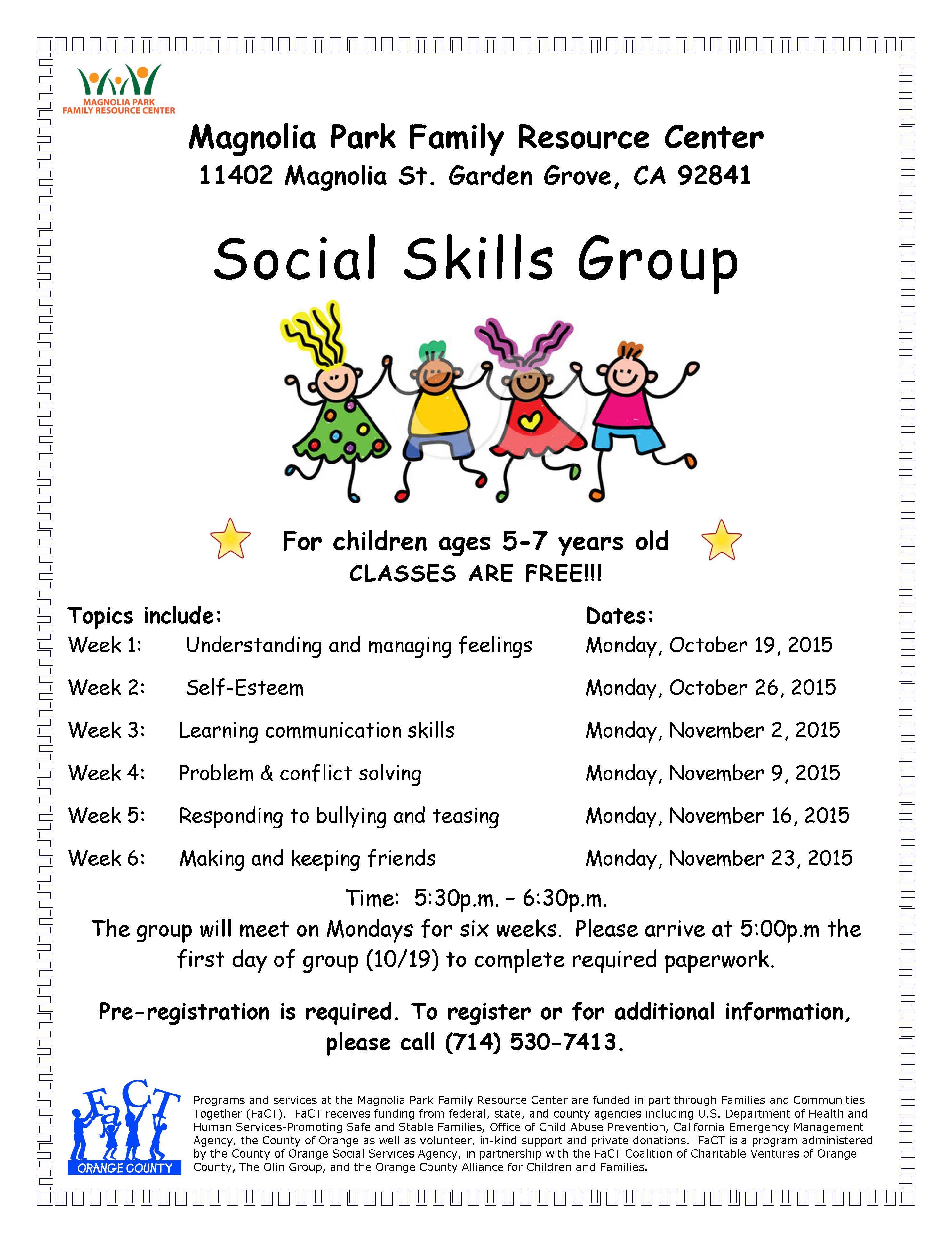 Social Skills Group Classes For Kids