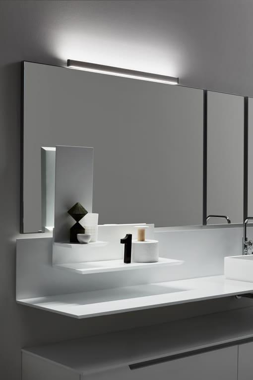 Realizzati con luce led, i faretti si adattano facilmente alle specchiere arbi. Spotlights Arcom Bagno