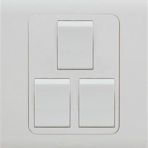 3 gang switch white clopal type r