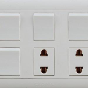 4 switch + 2 socket sheet type r clopal