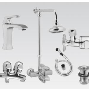 Faisal Sanitary Flat Series bath room set 6707