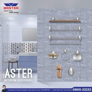 aster bath accessories set master