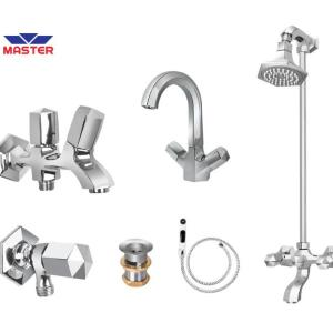hexa full round cp shower set master sanitary