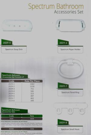 spectrum bath accessory set master