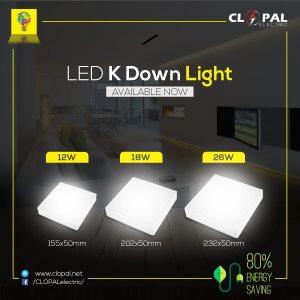 clopal led down open lights square