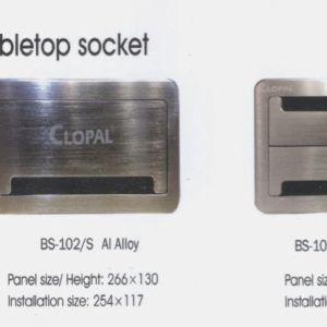 Brush Steel Table Panel 8 Clopal