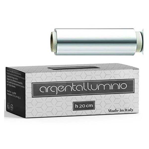 ARCosmetici argentalluminio carta stagnola argento 20 cm 650 gr con astuccio
