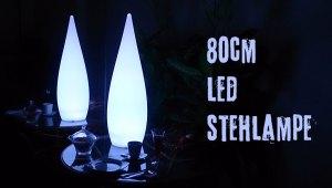 Kabellose 80cm LED Stehlampe mit Farbwechsel, Fernbedienung und Akku