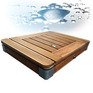 Outdoor Dusche, Gartendusche aus Teak Holz