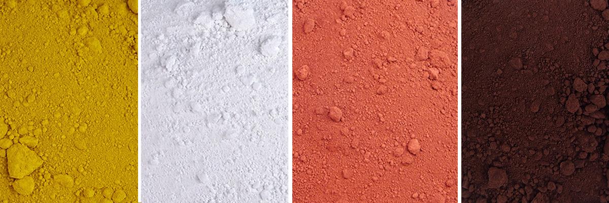Farbpigmente für Beton, Oxidfarbpigmente