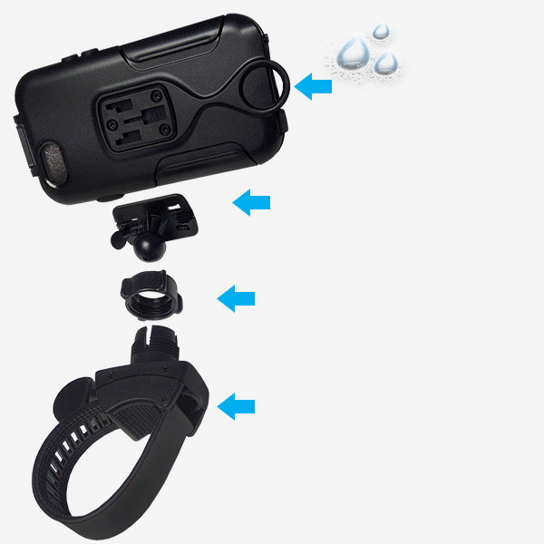 Fahrradhalterung für iphone 6, ideal auch für Motorrad