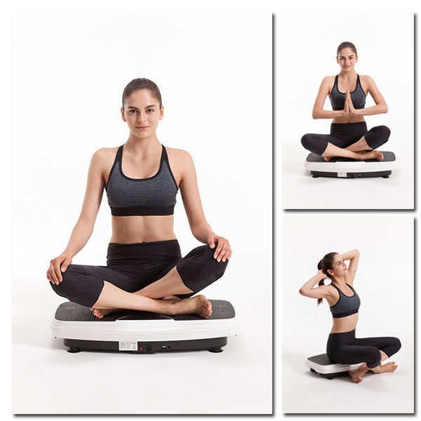 Vibrationsplatte - Übungen, Sitzende Haltung