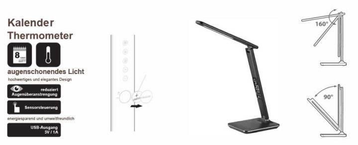 LED Schreibtischlampe, Eigenschaften