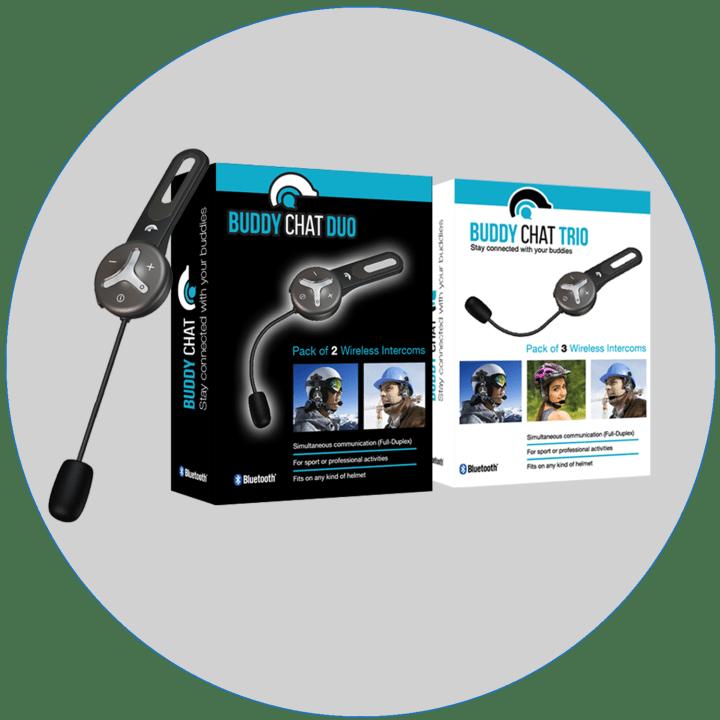 Bluetooth Freisprecheinrichtung, Sport und Industrie, Buddy Chat Duo und Trio