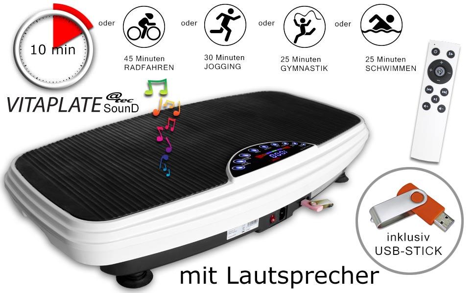 Vitaplate SD - Vibrationsplatte mit Lautsprecher