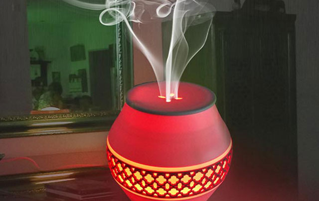 elektrische Aromalampe, Diffuser mit Farbwechsel