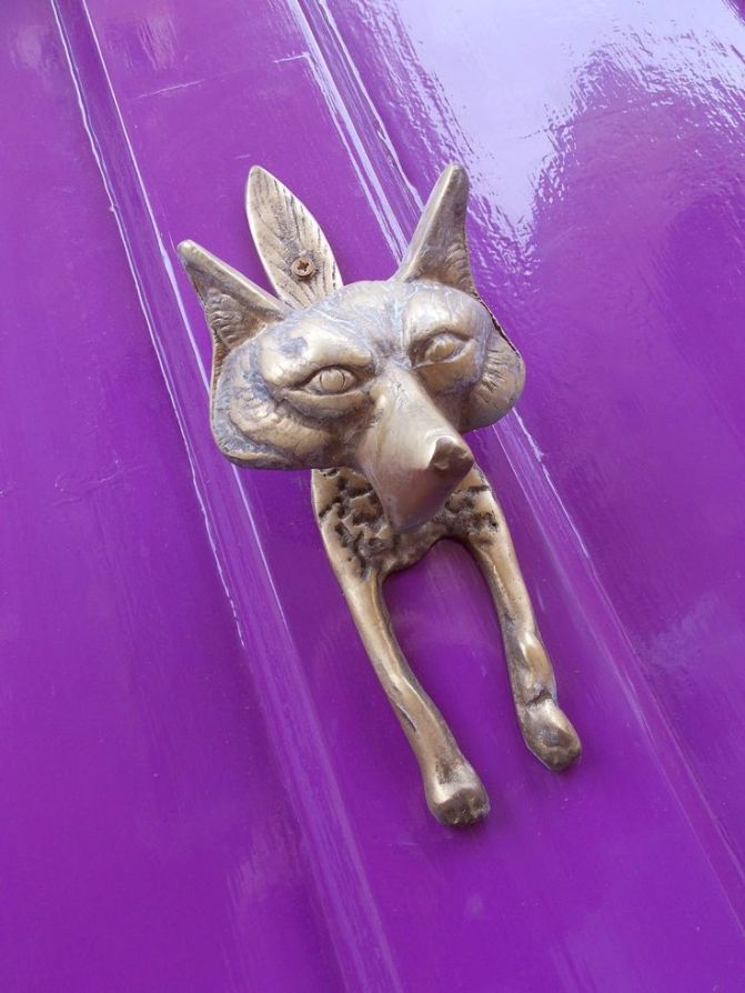ARCTICdeco.com: Brass Fox Door Knocker