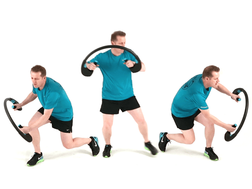 Diagonal Lunge Twist, Arcufit Exercises