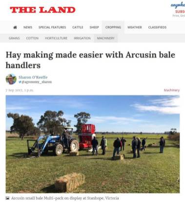 ARCUSIN AUSTRALIA BALE CHASER DEMONSTRATIONS
