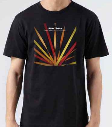 Above Beyond Sun and Moon T-Shirt Crew Neck Short Sleeve Men Women Tee DJ Merchandise Ardamus.com