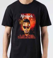 Afrojack Jacked Tour T-Shirt Crew Neck Short Sleeve Men Women Tee DJ Merchandise Ardamus.com