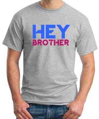 Avicii Hey Brother T-Shirt Crew Neck Short Sleeve Men Women Tee DJ Merchandise Ardamus.com