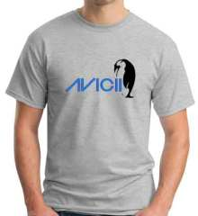 Avicii Penguin T-Shirt Crew Neck Short Sleeve Men Women Tee DJ Merchandise Ardamus.com