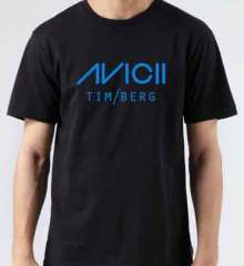 Avicii T-Shirt Crew Neck Short Sleeve Men Women Tee DJ Merchandise Ardamus.com