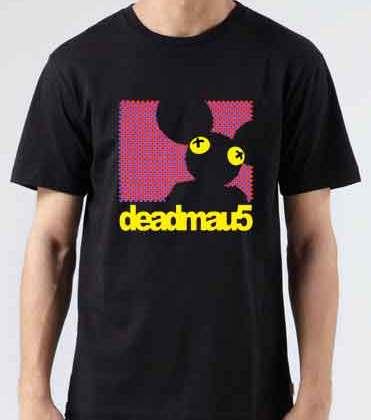 Deadmau5 Dot Matrix T-Shirt Crew Neck Short Sleeve Men Women Tee DJ Merchandise Ardamus.com