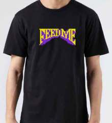 Feed Me Logo T-Shirt Crew Neck Short Sleeve Men Women Tee DJ Merchandise Ardamus.com