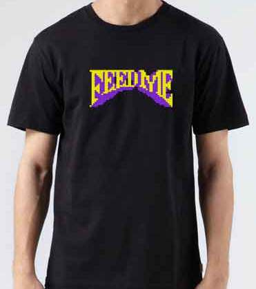Feed Me Logo T-Shirt Crew Neck Short Sleeve Men Women Tee DJ Merchandise Ardamus.com
