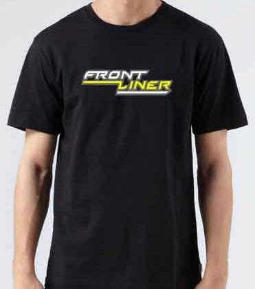 Frontliner T-Shirt Crew Neck Short Sleeve Men Women Tee DJ Merchandise Ardamus.com