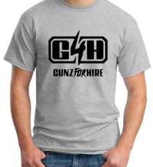 Gunz for Hire Logo T-Shirt Crew Neck Short Sleeve Men Women Tee DJ Merchandise Ardamus.com