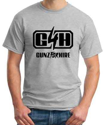 Gunz for Hire Logo T-Shirt Crew Neck Short Sleeve Men Women Tee DJ Merchandise Ardamus.com