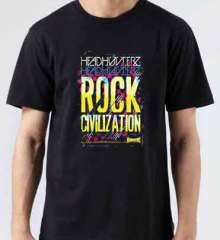 Headhunterz Rock Civilization T-Shirt Crew Neck Short Sleeve Men Women Tee DJ Merchandise Ardamus.com