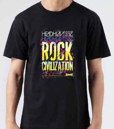 Headhunterz Rock Civilization T-Shirt Crew Neck Short Sleeve Men Women Tee DJ Merchandise Ardamus.com