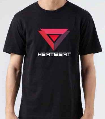 Heatbeat T-Shirt Crew Neck Short Sleeve Men Women Tee DJ Merchandise Ardamus.com