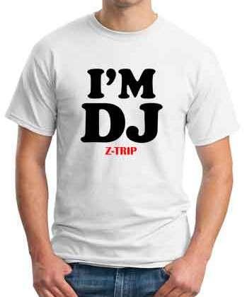 I Am DJ Z Trip T-Shirt Crew Neck Short Sleeve Men Women Tee DJ Merchandise Ardamus.com