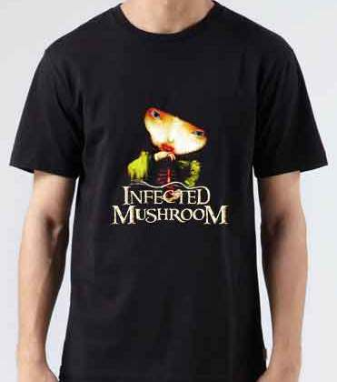 Infected Mushroom Vicious Delicious T-Shirt Crew Neck Short Sleeve Men Women Tee DJ Merchandise Ardamus.com