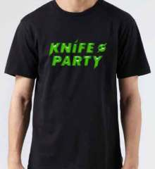 Knife Party Logo T-Shirt Crew Neck Short Sleeve Men Women Tee DJ Merchandise Ardamus.com