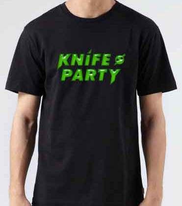 Knife Party Logo T-Shirt Crew Neck Short Sleeve Men Women Tee DJ Merchandise Ardamus.com