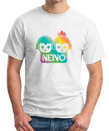 Nervo Logo T-Shirt Crew Neck Short Sleeve Men Women Tee DJ Merchandise Ardamus.com