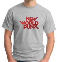 New World Punx Logo T-Shirt Crew Neck Short Sleeve Men Women Tee DJ Merchandise Ardamus.com