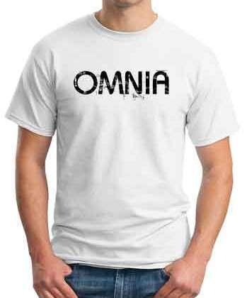 Omnia T-Shirt Crew Neck Short Sleeve Men Women Tee DJ Merchandise Ardamus.com