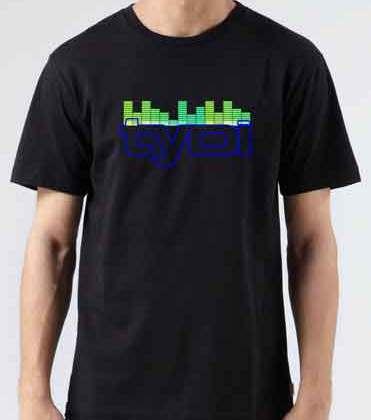Tydi Soundbar T-Shirt Crew Neck Short Sleeve Men Women Tee DJ Merchandise Ardamus.com